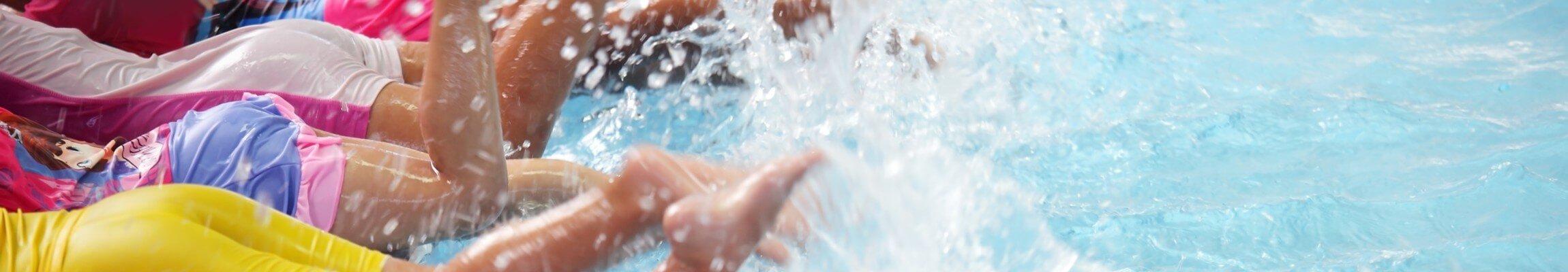 swim clinic kicking practice